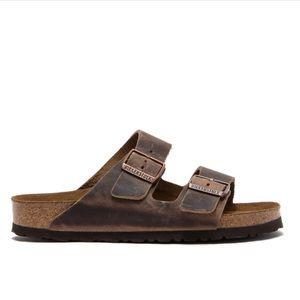 Birkenstock Arizona Oiled Leather Slide Sandal